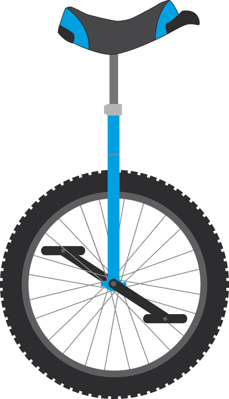 png black and white download Unicycle drawing line. Editorial hipster on the