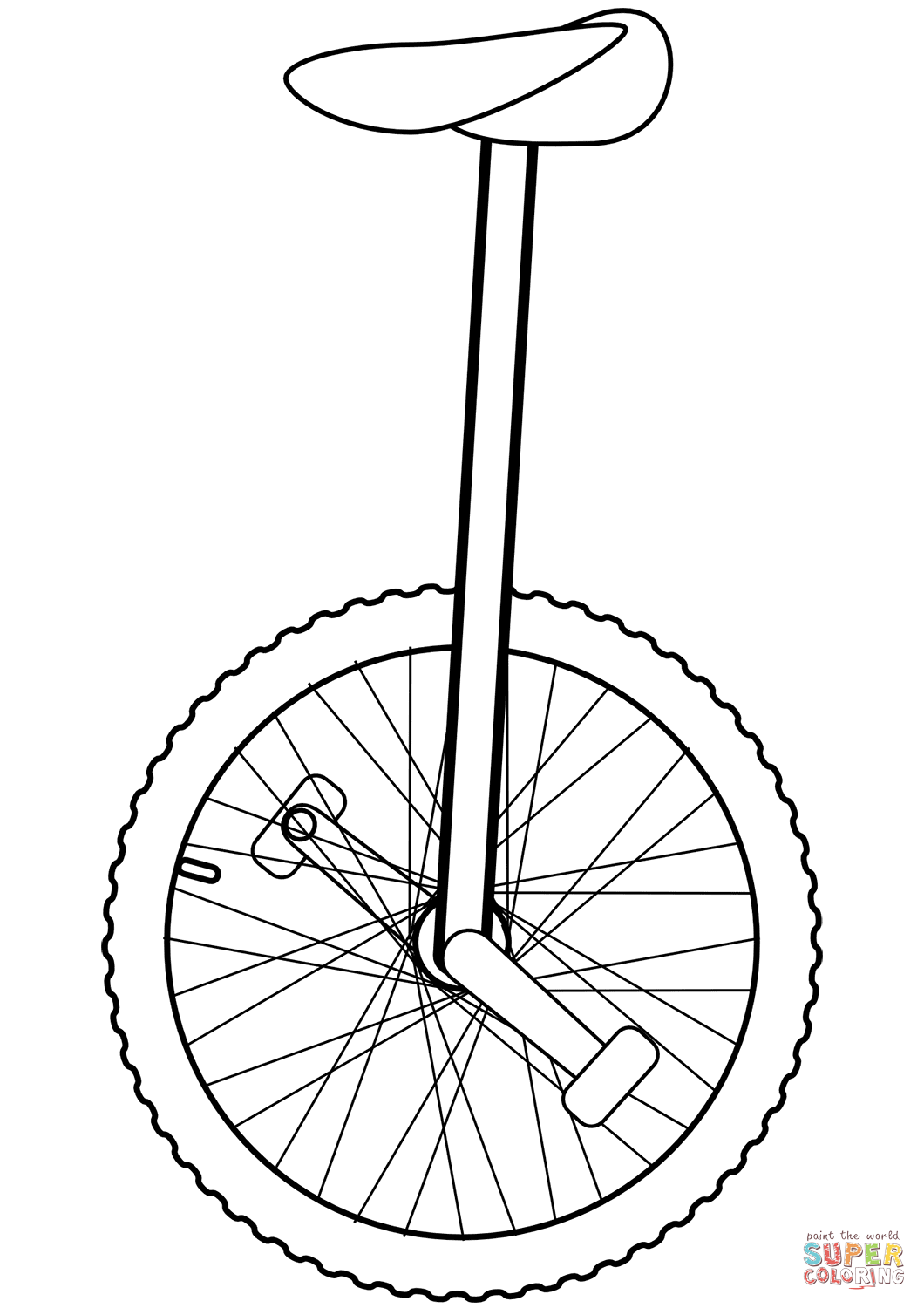 clipart transparent library Unicycle drawing red.  for free download