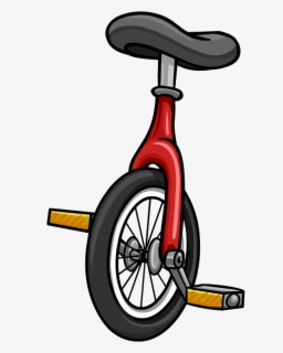 royalty free stock Unicycle drawing red. Free clip art with
