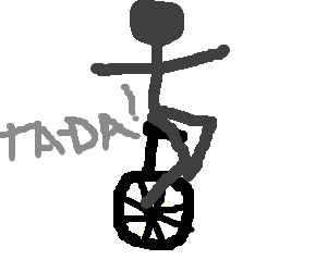 image free download Darth vader on a. Unicycle drawing silhouette