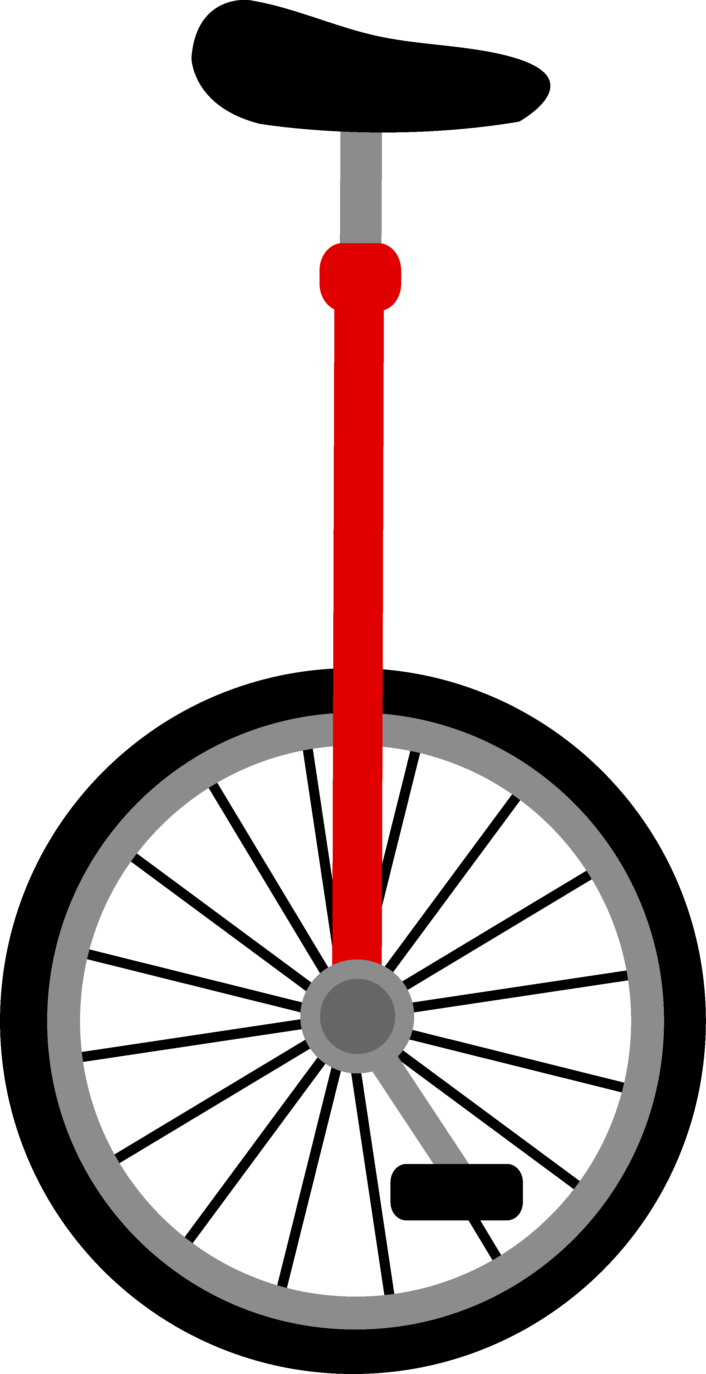 clip download Unicycle drawing simple. Red design free clip
