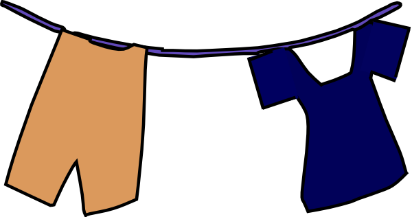 image free library Uniform clipart. School on clothesline clip