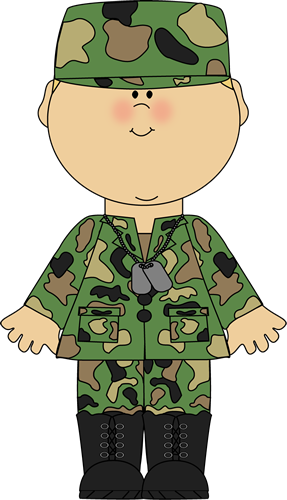 png black and white Uniform clipart. Boy in army clip