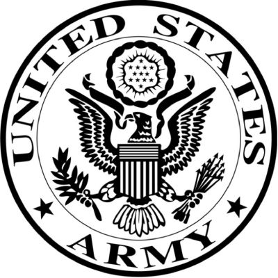 clip royalty free library Logo national guard untied. United states army clipart