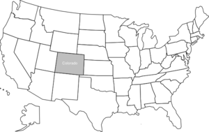 banner library download United states clipart. Map with colorado highlighted
