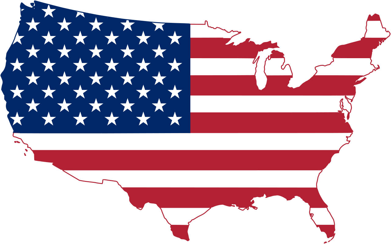 clipart black and white stock Usa svg clip art. File flag map of