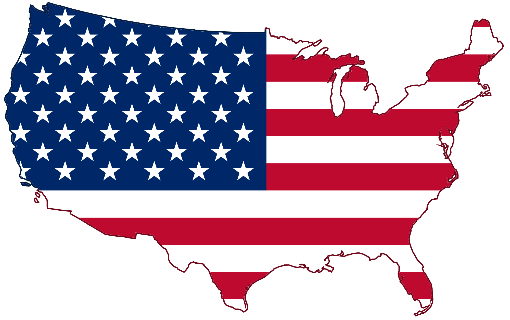banner transparent library The united states of. Usa svg red