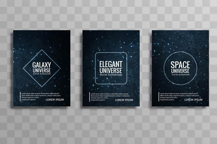 black and white library Universe vector background design. Beautiful galaxy colorful business