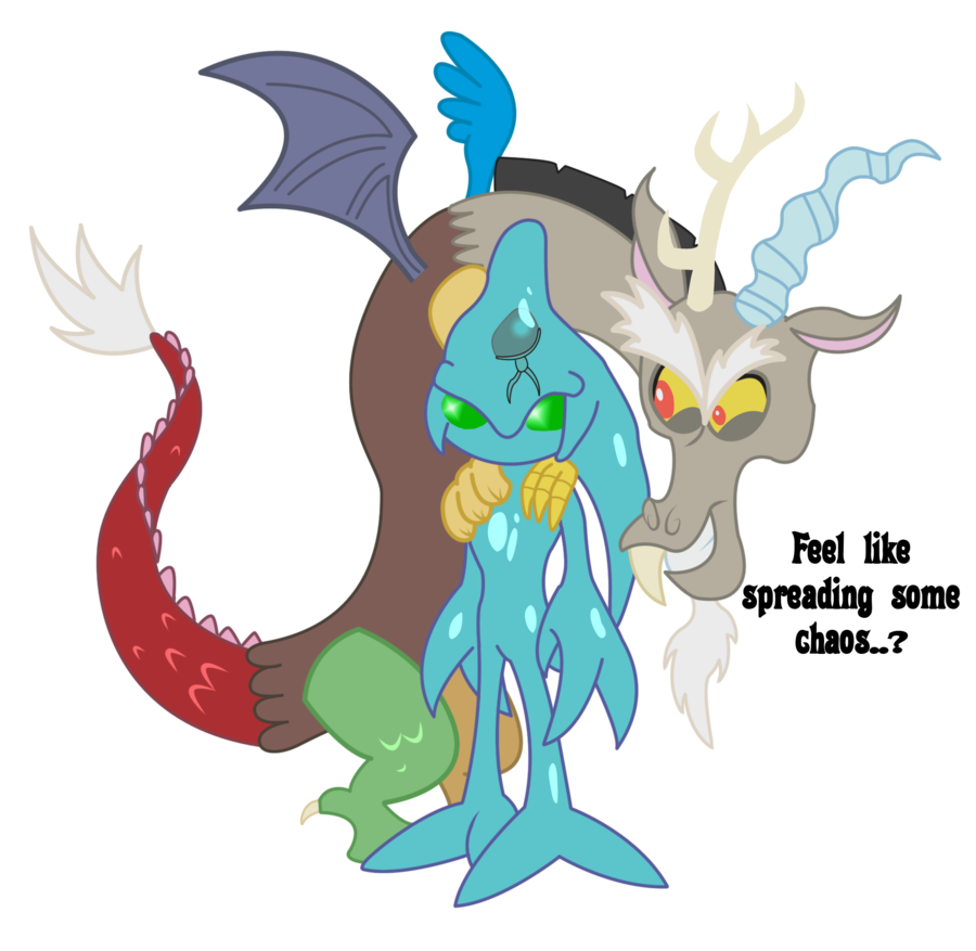 graphic transparent Two gods of by. Universe vector chaos