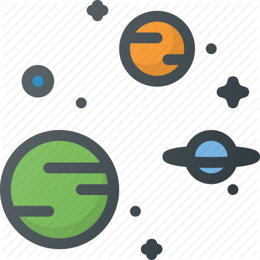 picture Space by alp r. Universe vector icon