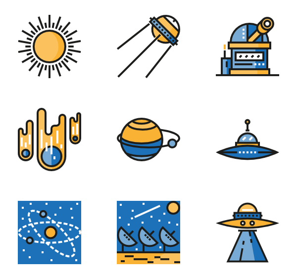 clipart stock Universe vector space. Icons free