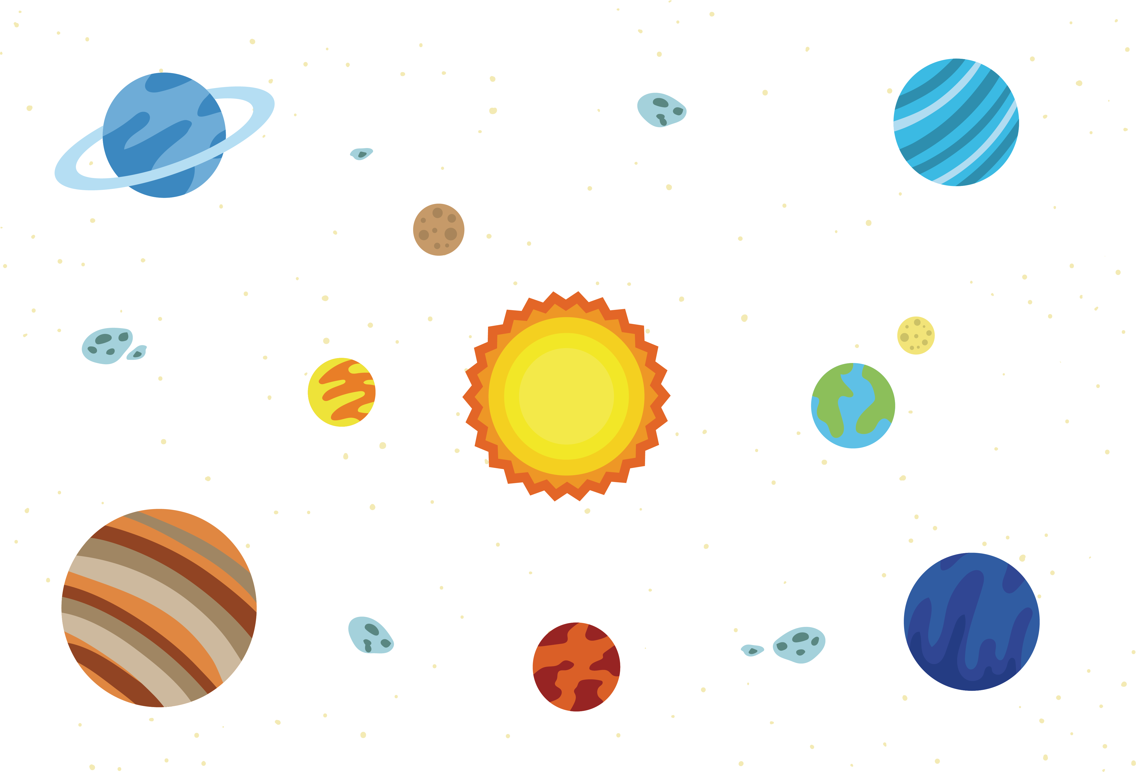 clipart black and white Universe vector starry. Solar system euclidean sky