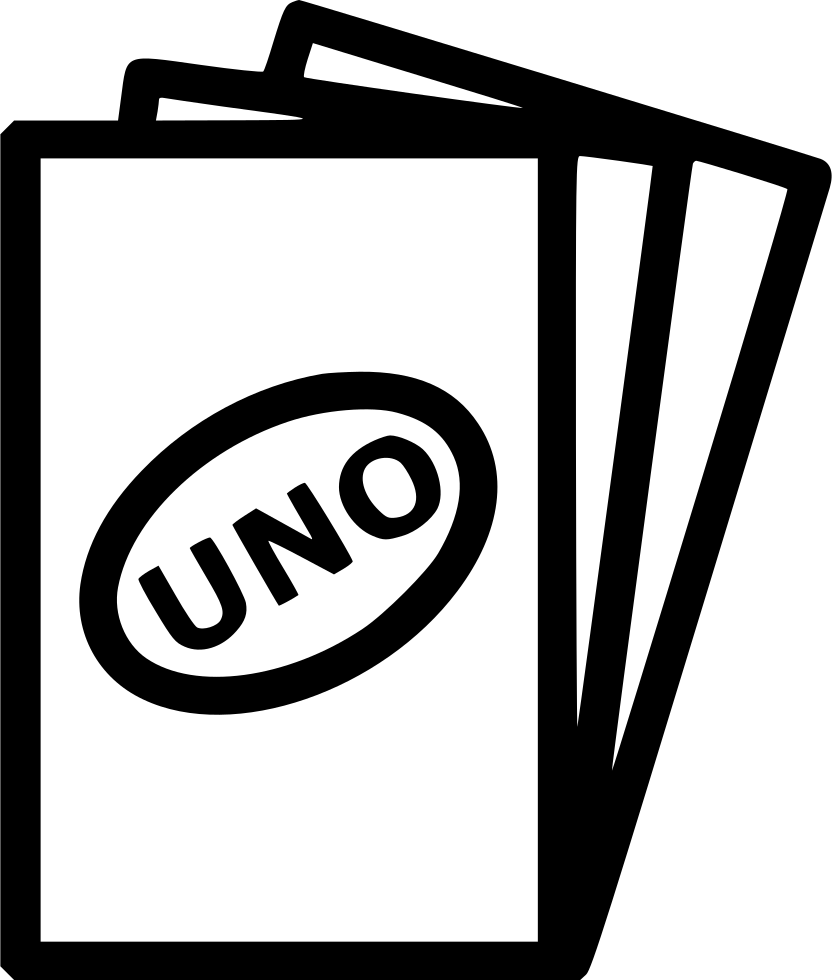 vector black and white library Sports Uno Cards Fun Entertainment Play Svg Png Icon Free Download
