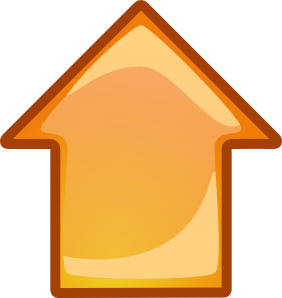 graphic freeuse library Arrow orange clip art. Up clipart