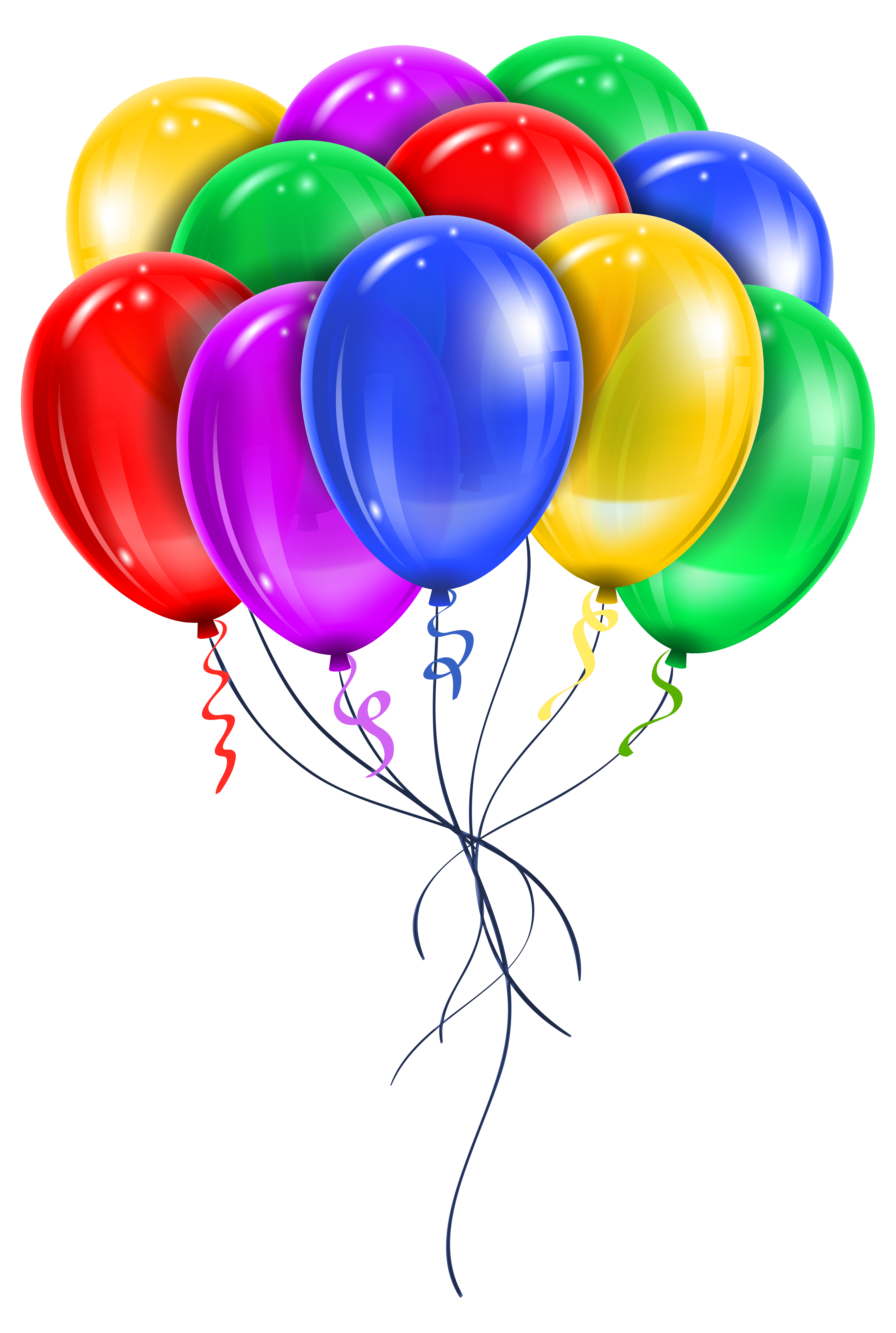 clipart library library Transparent multi color balloons. Vector balloon bunch