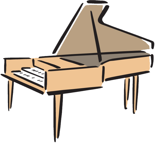 clipart transparent stock Musical clip art transprent. Piano keyboard clipart.