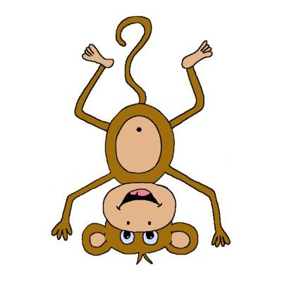 png library Cut outs raegan august. Upside down hanging monkey clipart