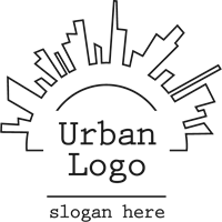 banner library library Logo ai free download. Urban vector