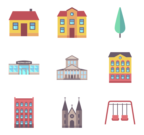 picture transparent Urban vector. Icons free city element.