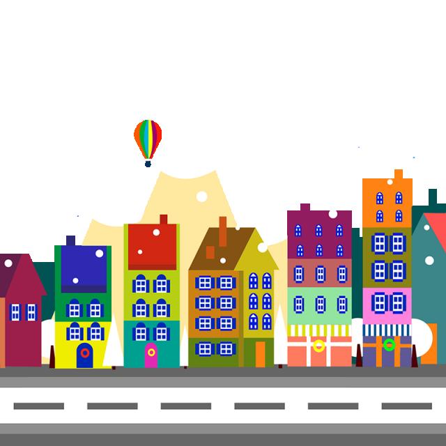 clip art freeuse stock Vector cartoons city. Decorative png and psd