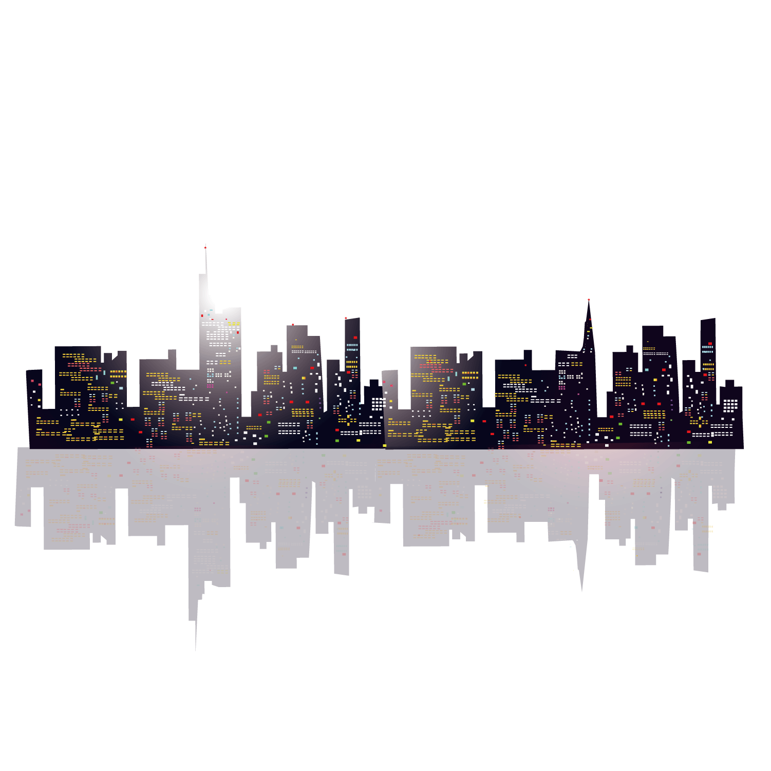 banner library Building high rise buildings. Urban vector