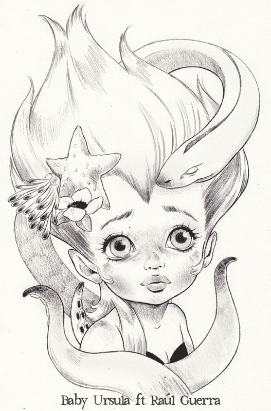 clip free stock Ursula drawing baby. The little mermaid final