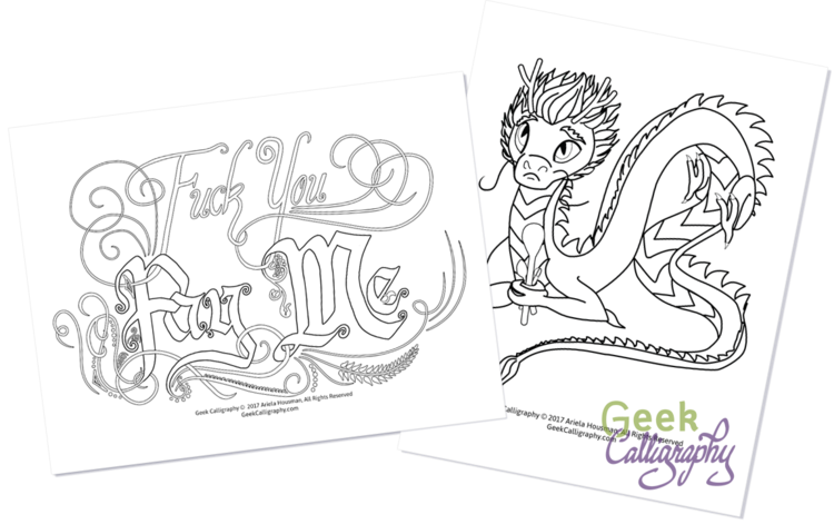 clip art black and white stock New product line printable. Ursula drawing color pencil