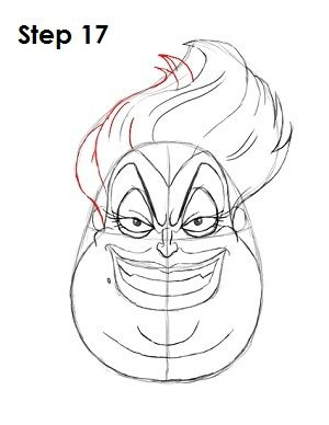 jpg free download Ursula drawing step by. Pin on disney
