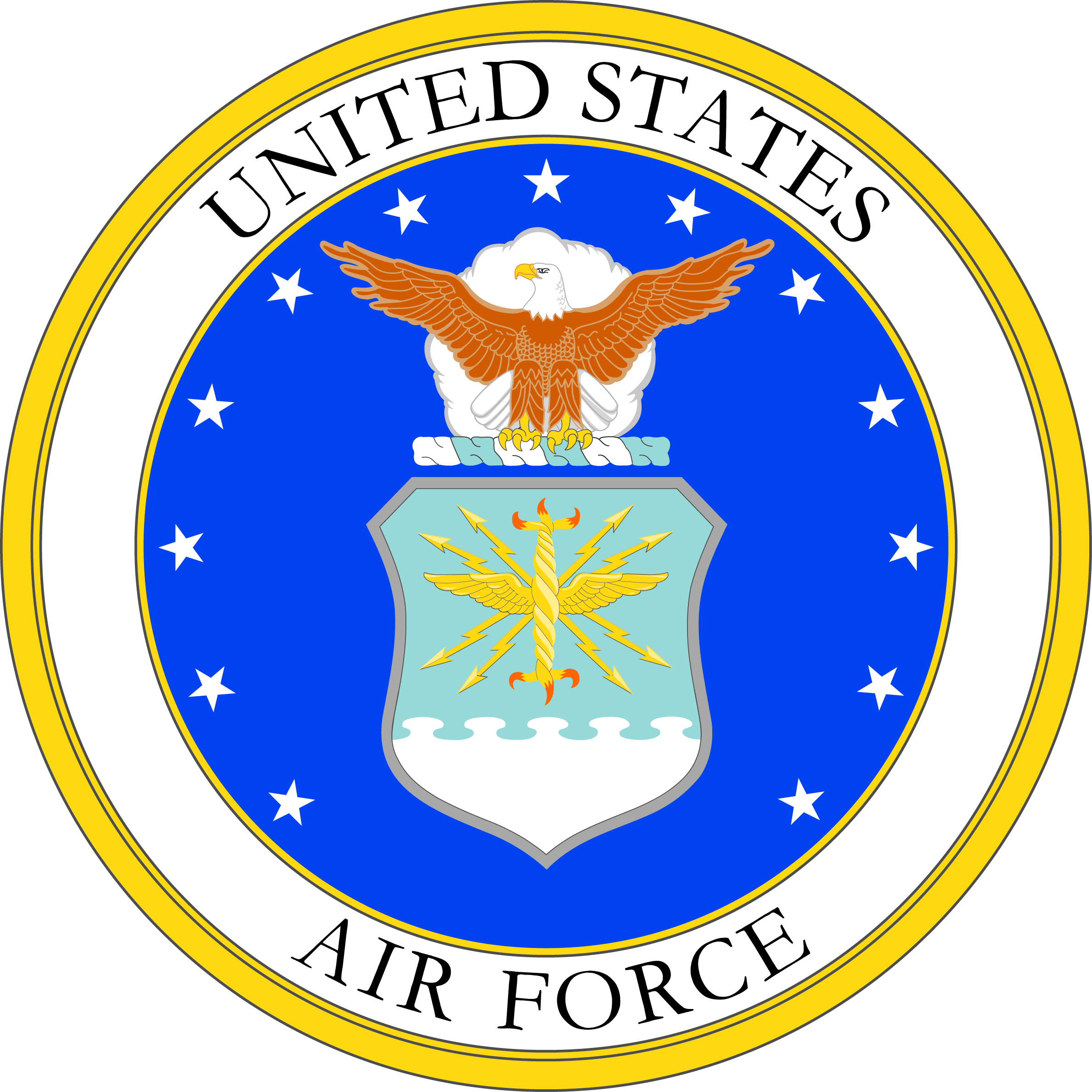 image free stock File military service mark. Us air force clipart