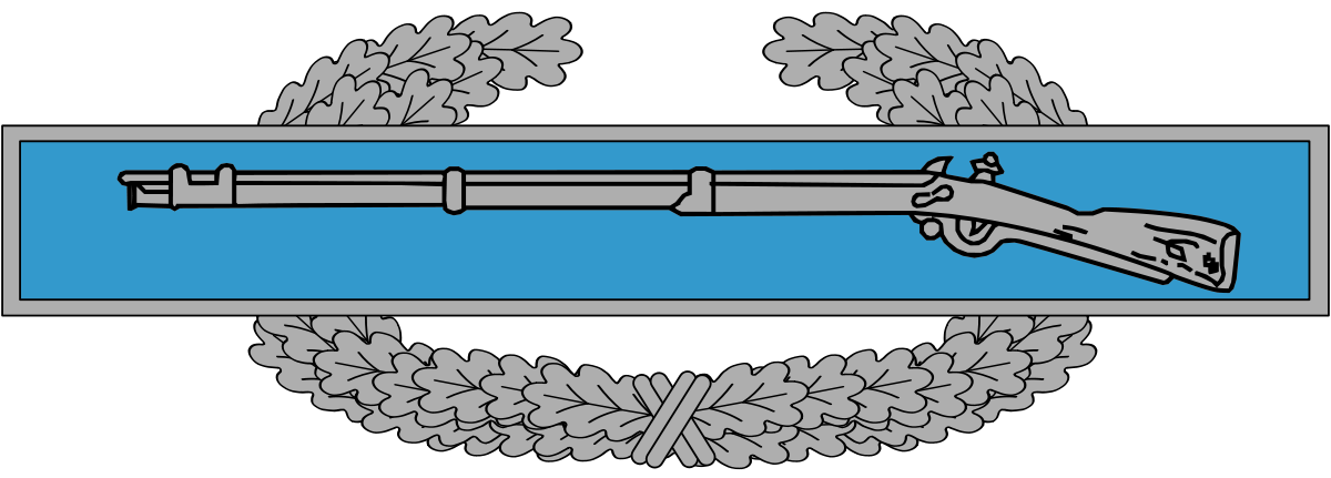 png free library Combat infantryman badge wikipedia. Us army infantry crossed rifles clipart.