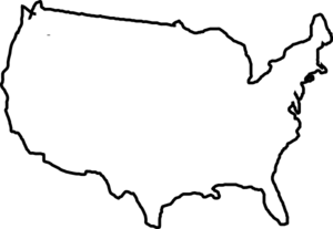 banner stock Usa drawing. Map silhouette at getdrawings