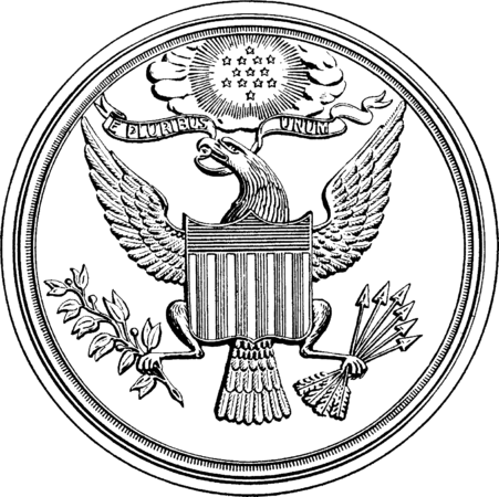 clip art royalty free library Usa drawing freedom. Great seal of the
