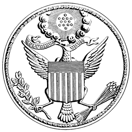clip library Great seal of the. Usa drawing freedom