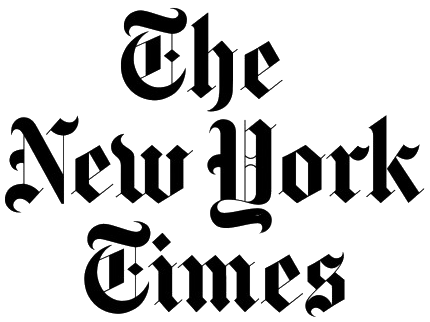 black and white stock Usa drawing lettering. New york times spotlights