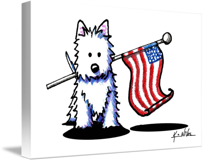 picture transparent library Westie by kim niles. Usa drawing patriotic