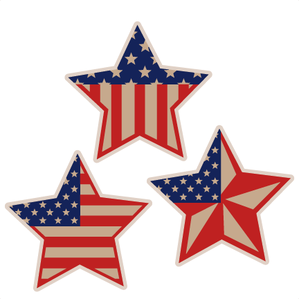 graphic stock Usa transparent star. Set svg scrapbook cut