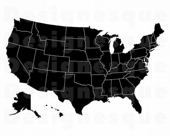 image library stock Usa svg. Map united states silhouette