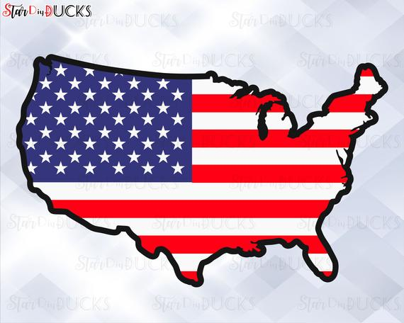jpg library library Usa svg clip art. Map flag cutting files
