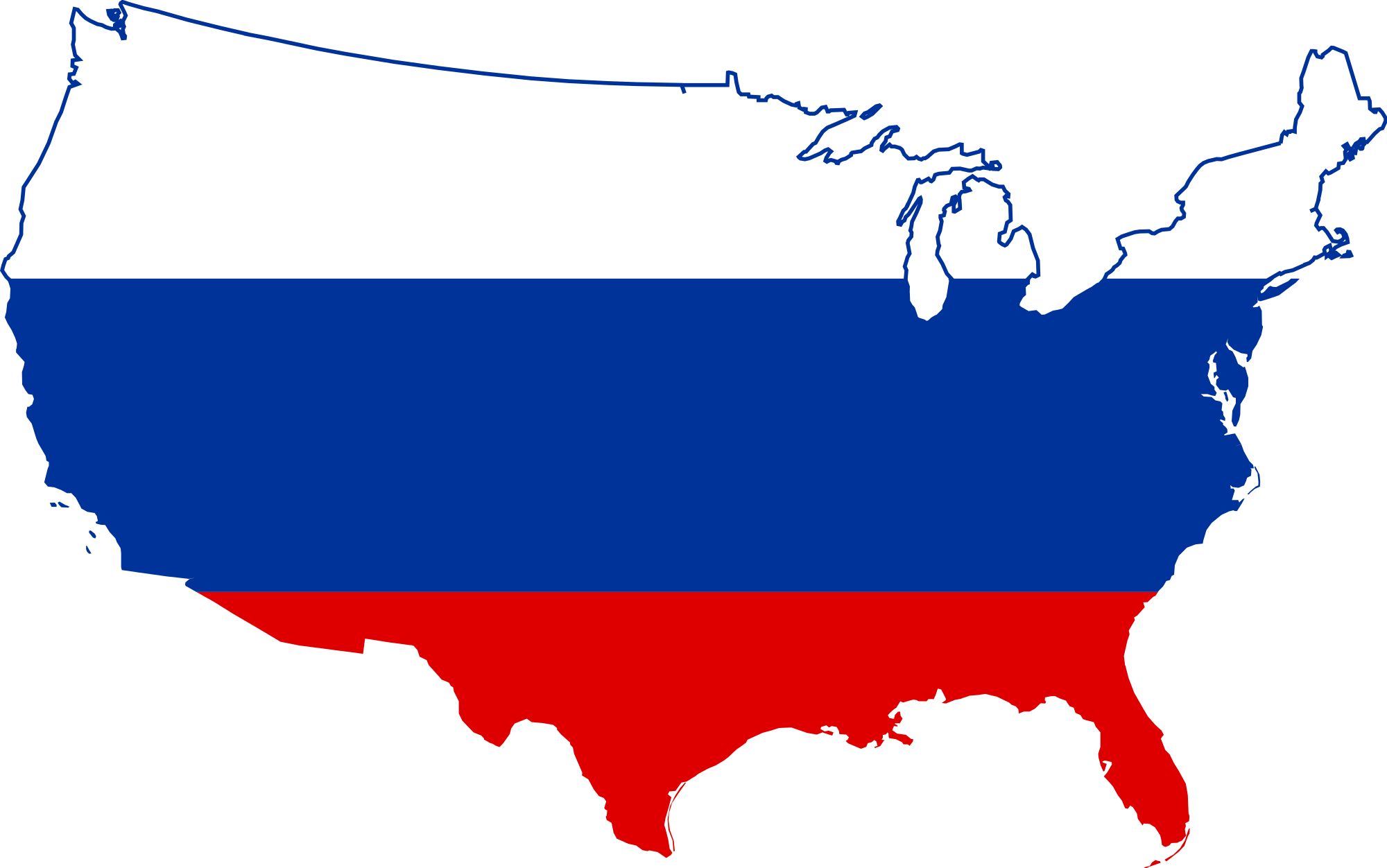 vector transparent stock Usa svg file. Flag map of russia