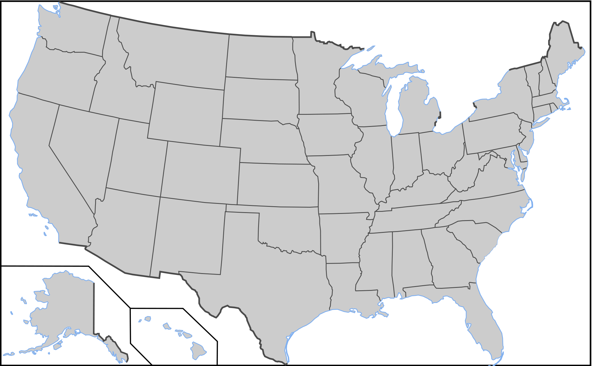 clip royalty free download Usa svg gray. Collection of free map