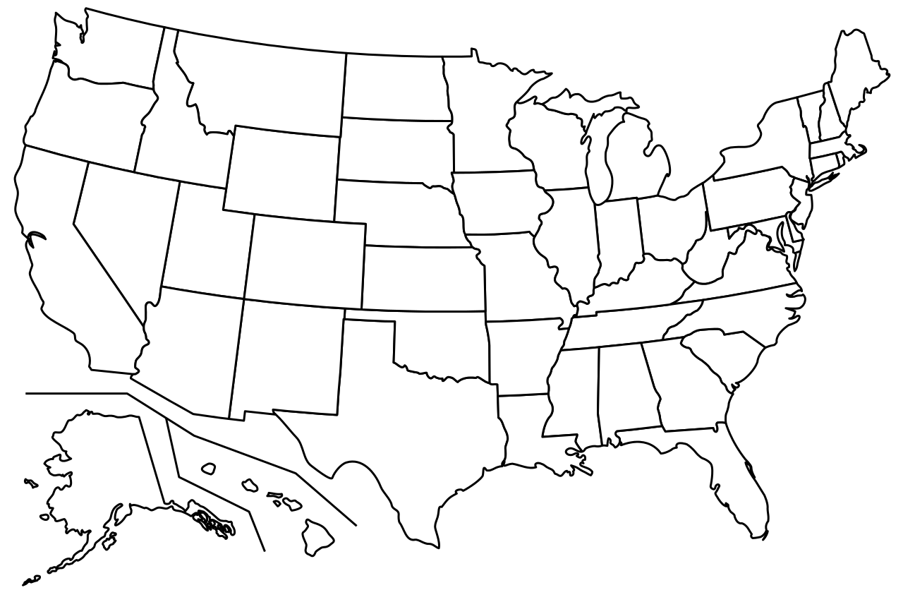 royalty free library File blank us map. Usa svg line drawing
