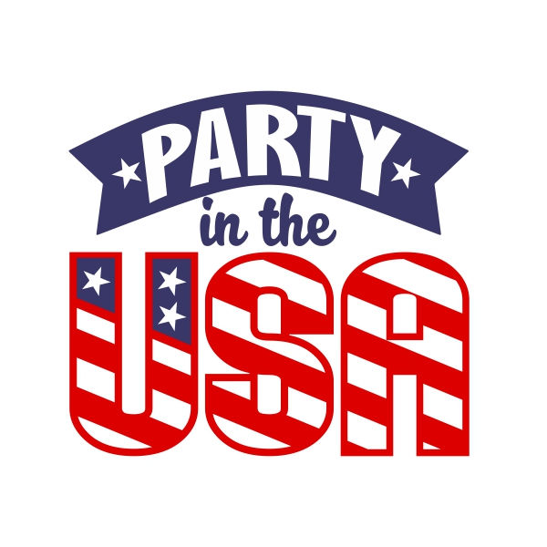 png black and white library Cuttable design . Usa svg party