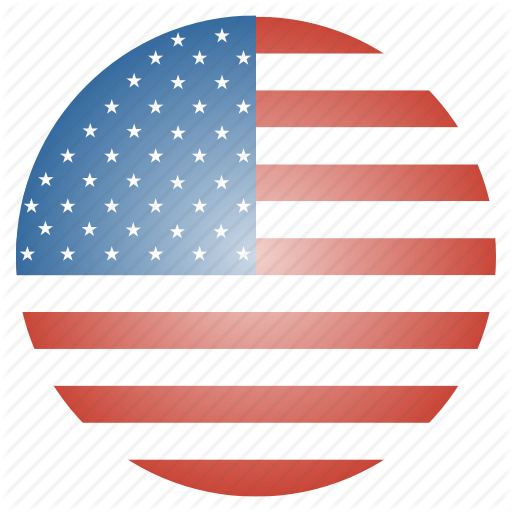 vector free stock Usa transparent circle. International glossy flags by