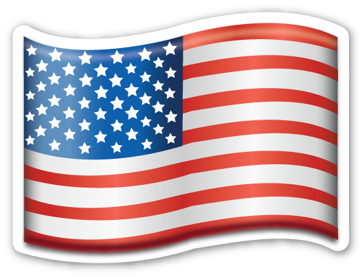 clip free stock Usa transparent emoji. Flag of emojistickers com