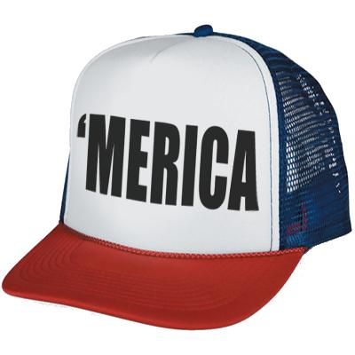 jpg black and white Usa transparent hat. Merica neon hats trucker