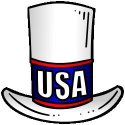 banner transparent download  clipart top for. Usa transparent hat
