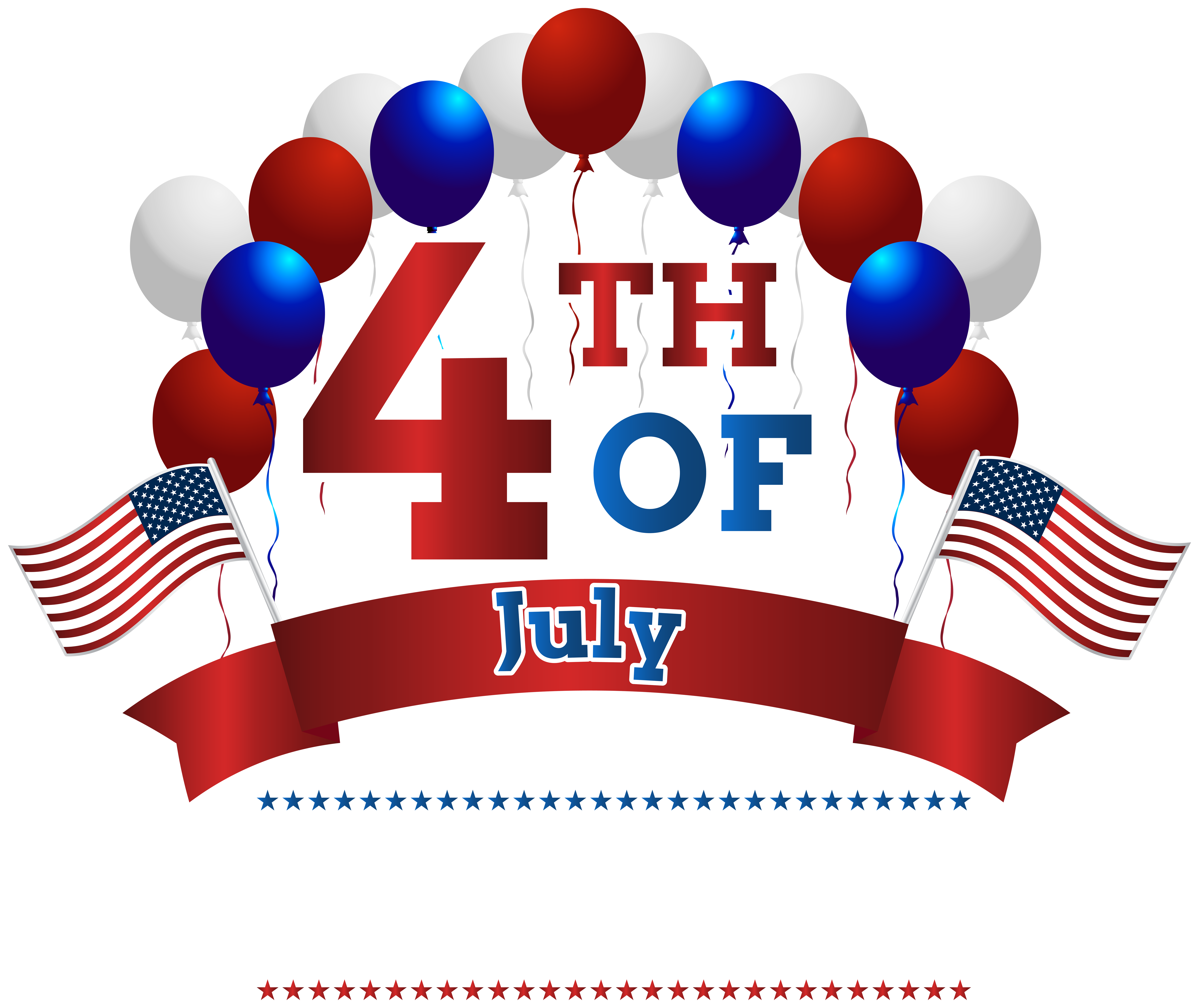 clip art black and white library Usa transparent independence day. Happy th july png