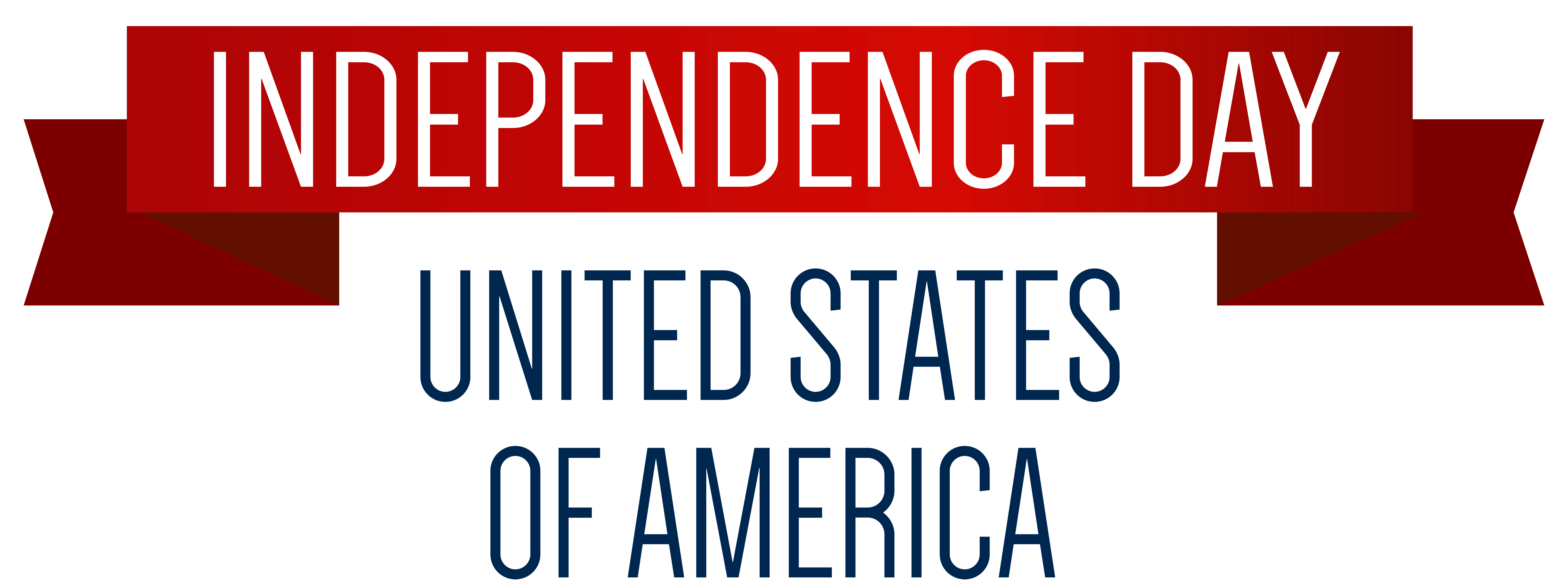 vector freeuse Banner png clip art. Usa transparent independence day
