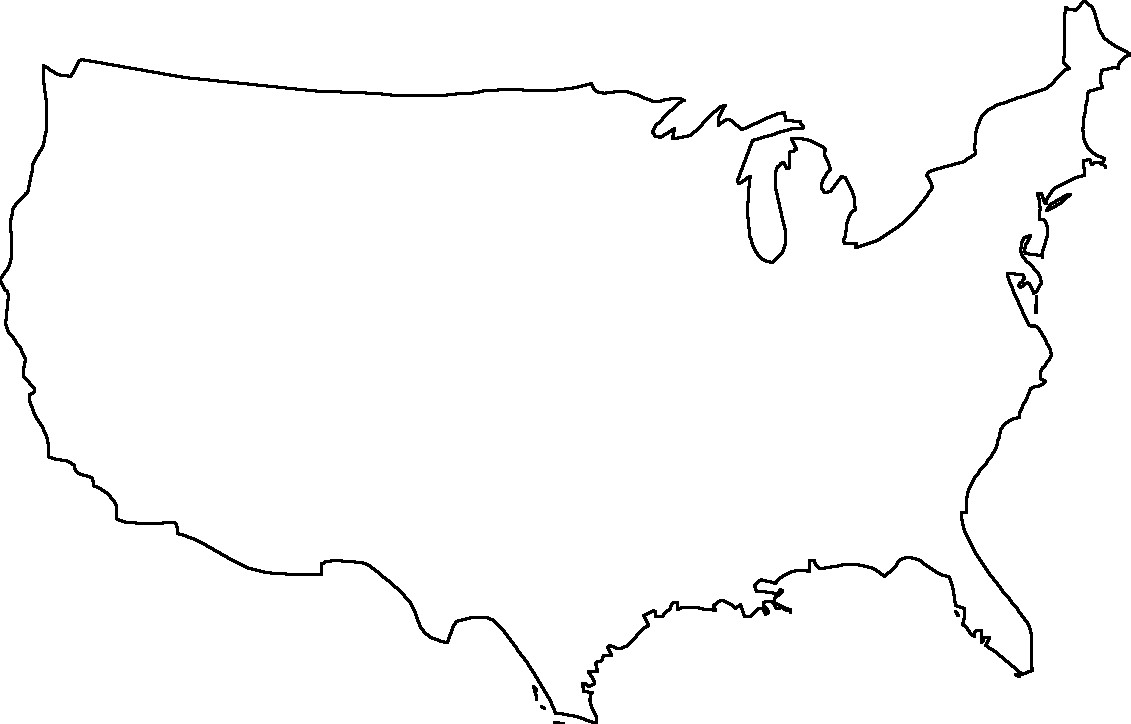 jpg black and white library Png free images . Usa transparent outline