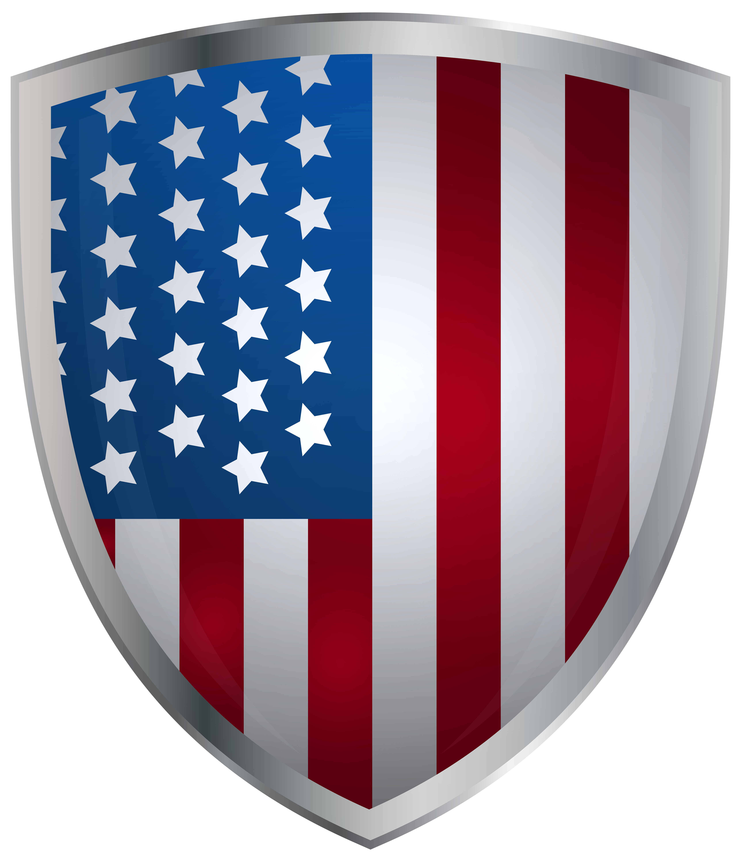 jpg free stock Usa transparent shield. Flag decor clip art